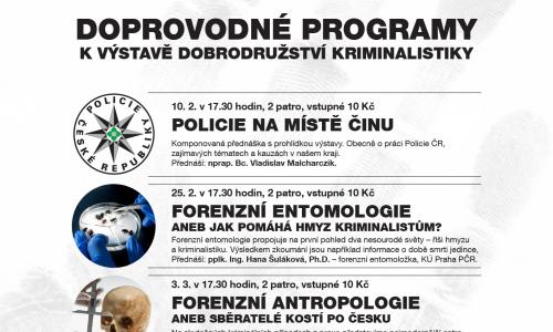Doprovodné programy k výstavě Dobrodružství kriminalistiky
