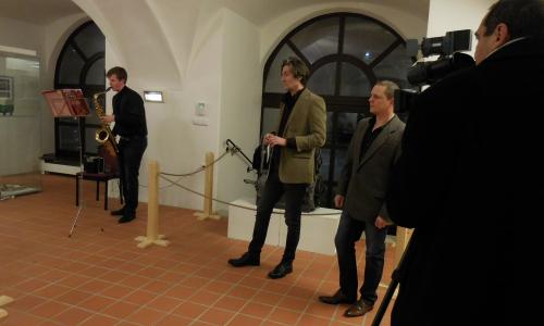 Fotogalerie z vernisáže výstavy Hans Ledwinka - Od Präsidenta do Síně slávy